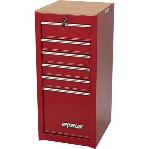 Tool Chest Side Cabinet by Waterloo 6 Drawer Side Hang On Tool Cabinet 16in W X