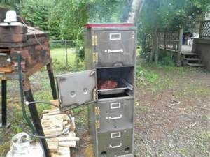 building a smoker from a filing cabinet office furniture
