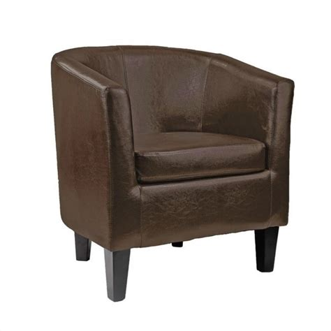 leather club barrel chair in brown lad 789 c