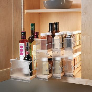 individual pull  spice rack wooden cabinet accessory   haefele america shop