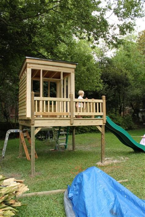 Diy Backyard Forts by 21 Best Images About Swing Set Fort On Diy