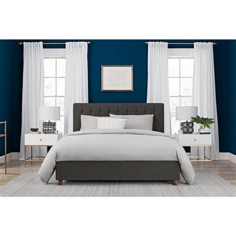 The raised bed provides a private sleeping and hangout place, while the open bottom can be used for play, study or extra storage. HomeSullivan Calabria Grey Twin Bed Frame-40E411BT-1GABED ...