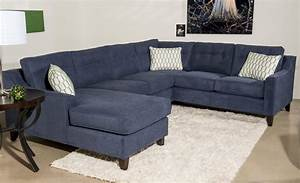 Audrina contemporary 3 piece sectional sofa with chaise by for Sectional sofas wolf furniture