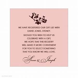 unique bridal shower invitation etiquette registry ideas With registry inserts for wedding invitations templates