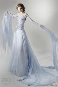 marina mansanta wedding dresses ninfe bridal collection With pale blue wedding dress