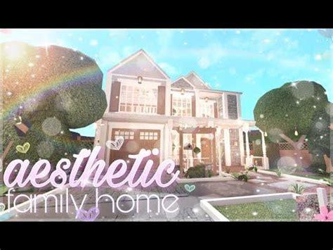 bloxburg aesthetic family home youtube   family house plans  story house design