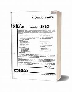 Kobelco Sk60 Hydraulic Excavator Book Code No S5le0005e