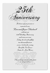 elegant anniversary anniversary invitations by With sample of 25th wedding anniversary invitations