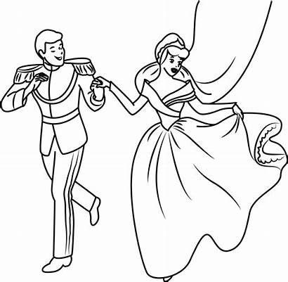 Cinderella Prince Charming Coloring Pages Disney Happy