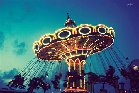 Carnival Lights by Photography Retro Fair Ride Carnival Vintage