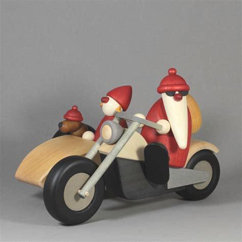 motorrad mit beiwagen weihnachtsmann familienausflug auf motorrad mit beiwagen