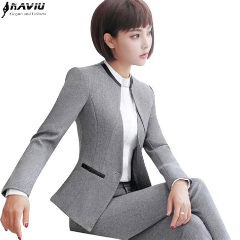 professional set women pant suits  autumn temperament