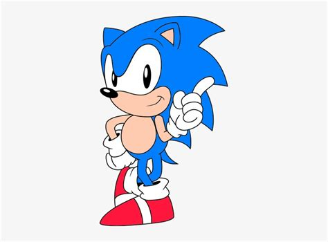 Classic-sonic - Classic Sonic The Hedgehog Pose ...