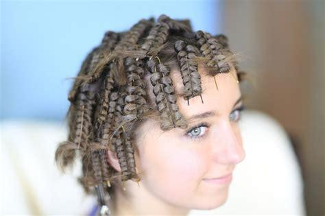 zombie cheerleader hair pin curls cute girls hairstyles