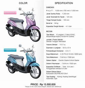 Prices And Specifications Yamaha Mio Fino