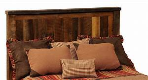 barnwood cal king headboard from fireside lodge b10020 With barnwood headboard king