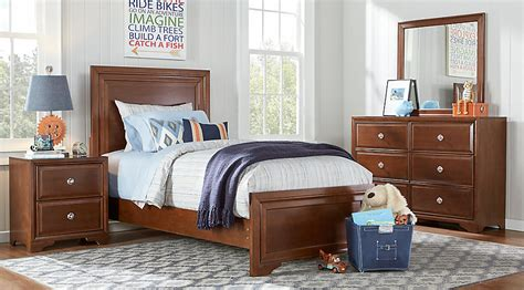 Belcourt Jr. Cherry 5 Pc Twin Panel Bedroom