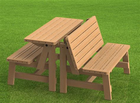 picnic table bench plans convertible benches to picnic table combination building