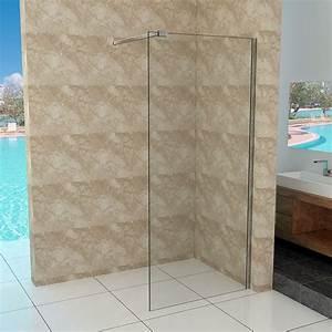 Duschtrennwand Badewanne Glas : walk in duschtrennwand 10mm glas 90 140cm duschwand ~ Michelbontemps.com Haus und Dekorationen