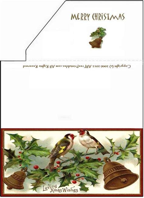 printable money enclosure  christmas greeting card birds  bells