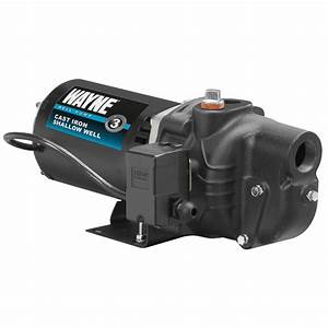 Wayne Sws50 1  2 Hp Cast Iron Shallow Well Jet Pump