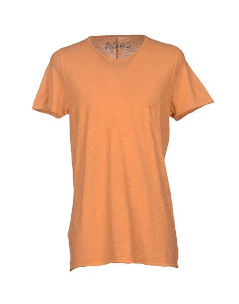 tshirt kaos jason kaos t shirt in orange for apricot lyst