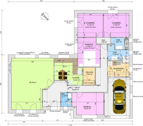 plan maison plain pied 4 chambres garage avis sur plan de plain pied 4 chambres de 145m 18 messages