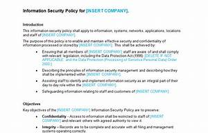 information security policy template bizorb With infosec policy template
