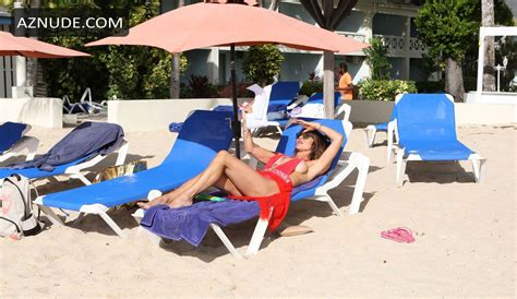 Lizzie Cundy Reading A Script On Her Sun Lounger While