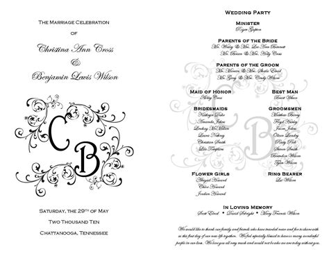 printable wedding programs  pinterest  printable