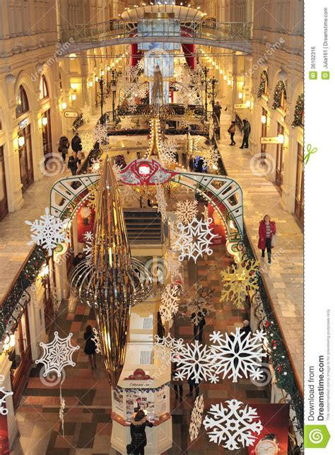 christmas shop decoration moscow editorial photo image