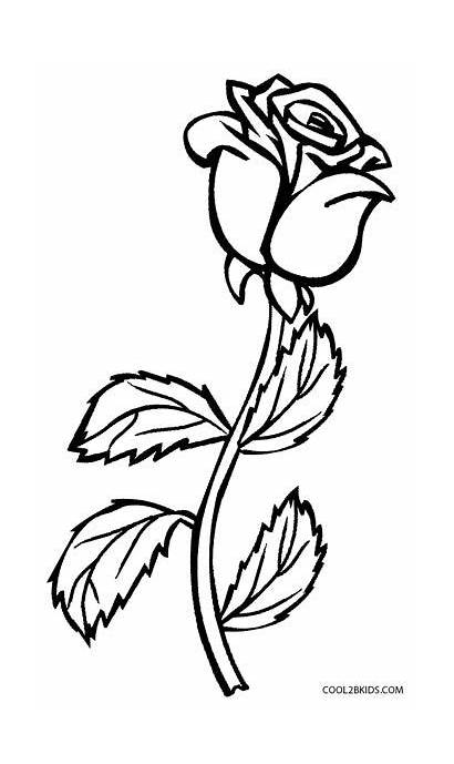 Coloring Rose Pages Cross Roses Flower Drawing