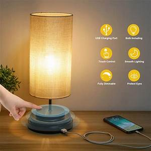 Kohree, Touch, Control, Bedside, Led, Table, Lamp, Fully, Dimmable, Usb, Port, Desk, Lamp, Dimmer, Modern