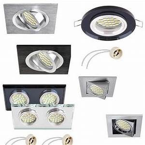 Mains 240v Fixed Fitting Tilt Recessed Downlight Ceiling