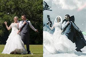 video creating a star wars wedding photo with 12 hours of With photoshop wedding photos