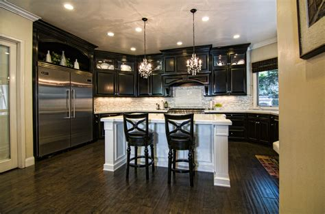 tile vs wood flooring kitchen traditional with breakfast