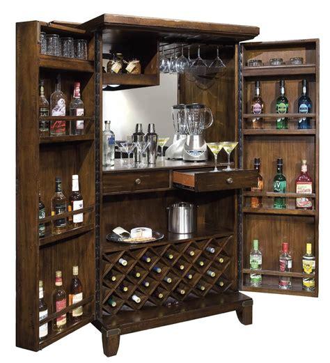 Kitchen Design Ideas Dark Cabinets - standing wine and liquor cabinet in dark wood