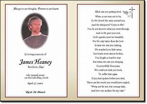 Best photos of obituary tribute examples memorial sample funeral tributes examples sample for Free memorial cards template
