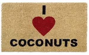 Fußmatte Gift Company : gift company fu matte i love coconuts kokos 74 x 44cm beige kaufen ~ Watch28wear.com Haus und Dekorationen