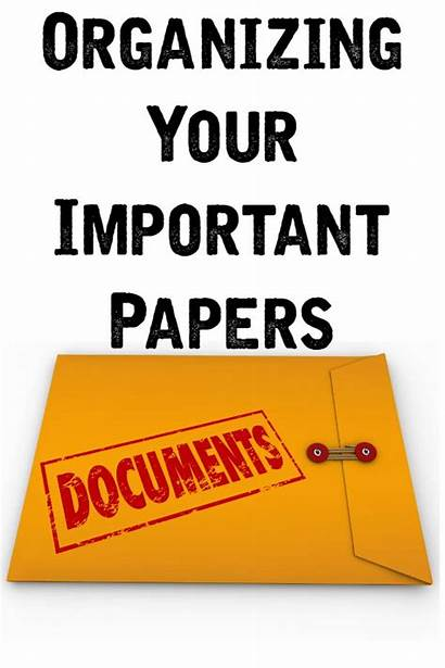 Important Organizing Papers Documents Organized Paper Paperwork