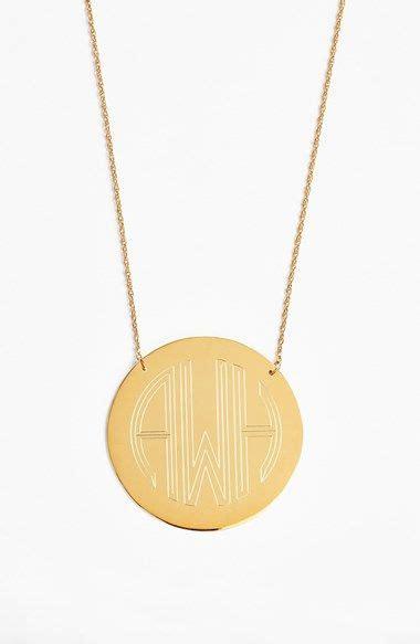 moon  lola block font personalized monogram pendant necklace   monogram