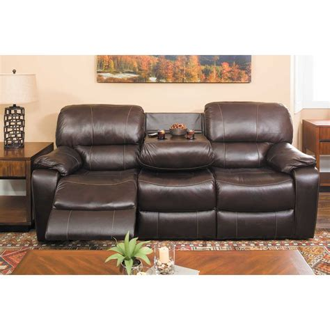 Top Grain Leather Loveseat by Wade Brown Top Grain Leather Reclining Loveseat 7059 52