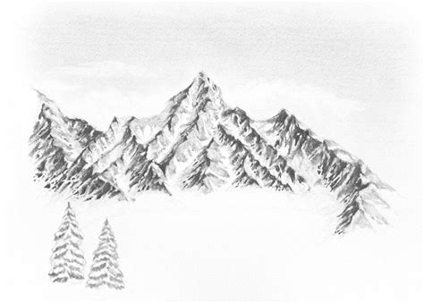 How To Draw A Winter Landscape From Scratch