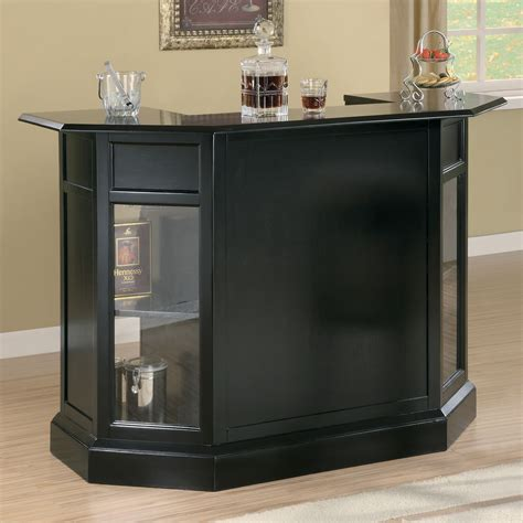 Black Home Bar Furniture by Coaster Furniture Modern Bar Unit Atg Stores Neha