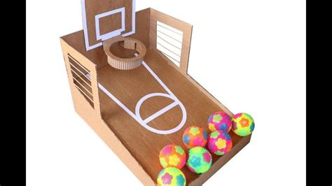 How To Make Basketball Arcade Game From Cardboard