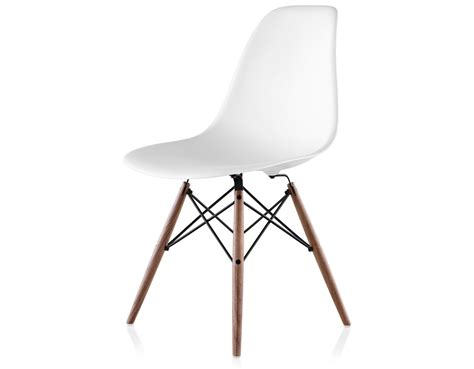 eames plastic side chair eames 174 molded plastic side chair with dowel base