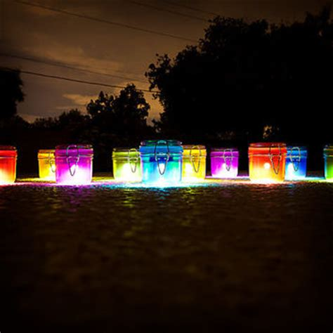 solar lights multi color set of 5 from firefliesdesign