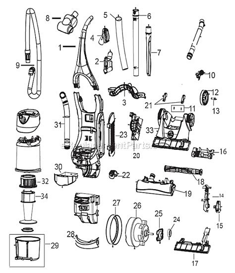 bissell total floors belt replacement bissell 6393 parts list and diagram ereplacementparts