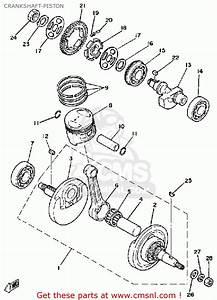 Yamaha Sr250 1981 Exciter1 Usa Crankshaft