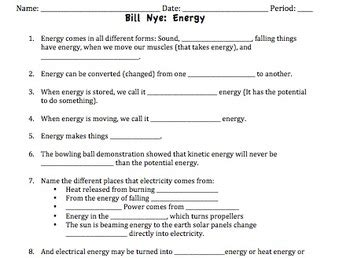 worksheet 4 6 forms of energy answer key bill nye energy video worksheet by mayberry in montana tpt